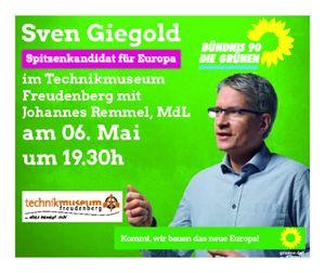 Unser Spitzenkandidat für Europa Sven Giegold in Freudenberg