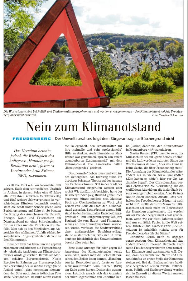 Klimaschutz in Freudenberg