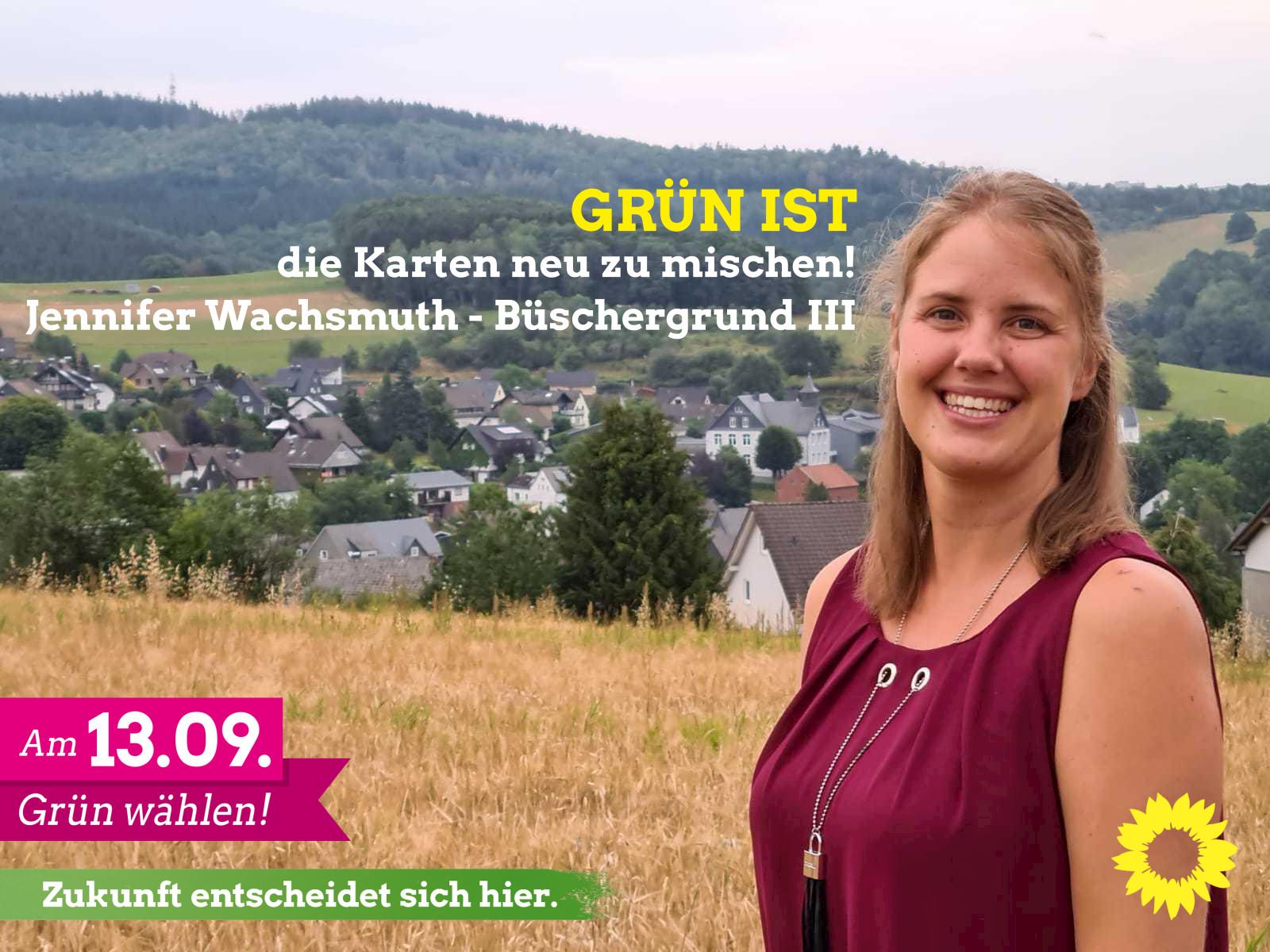Jennifer Wachsmuth – unsere Kandidatin für Büschergrund III