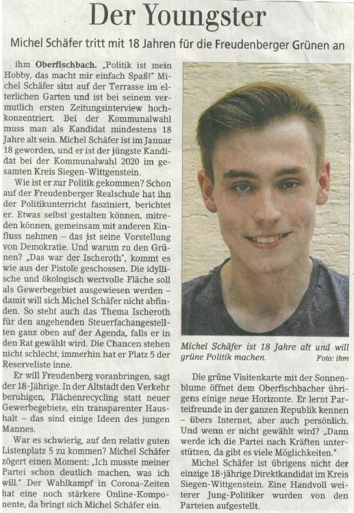 Mit 18: Freudenberg voranbringen