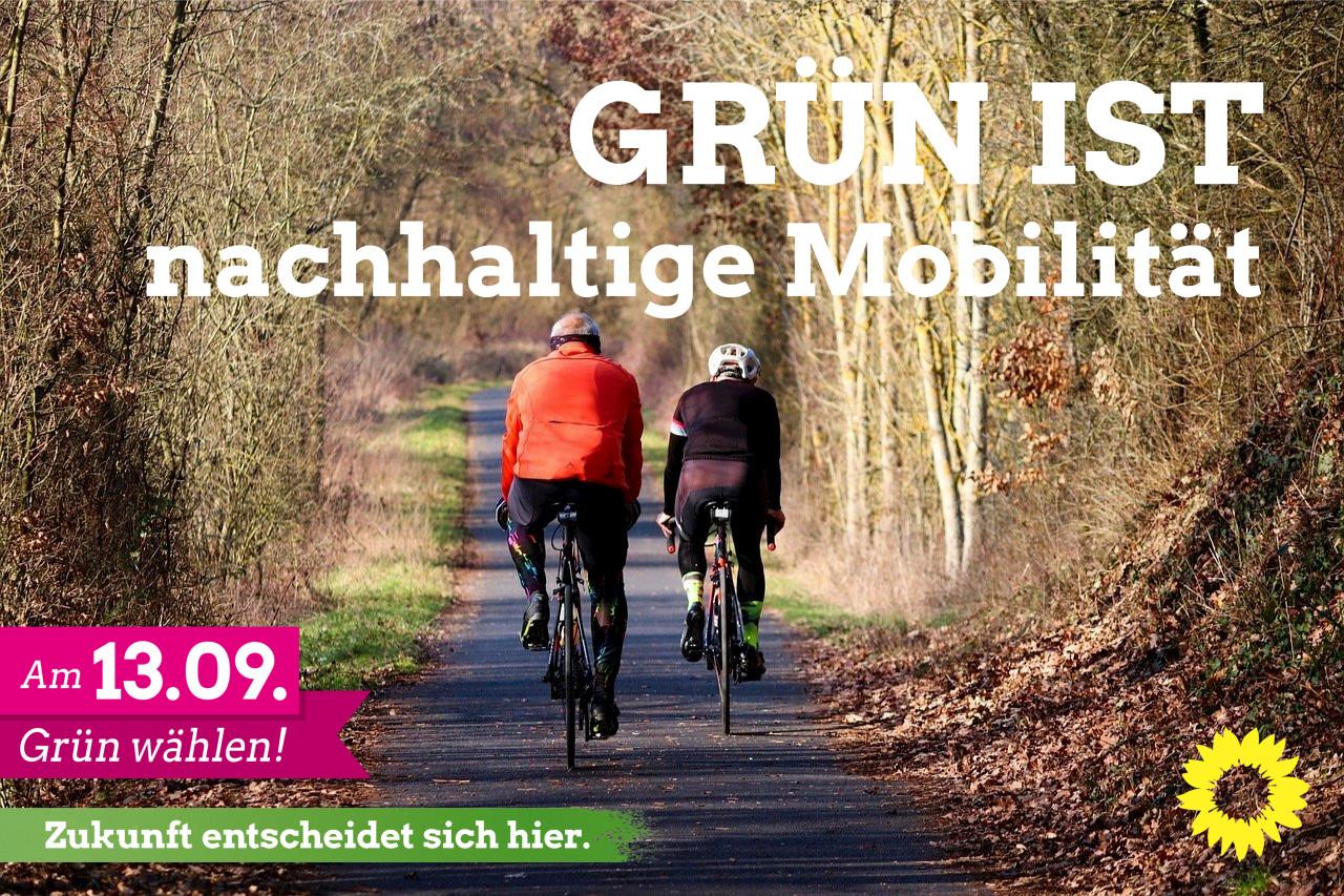 GRÜN ist: Nachhaltige Mobilität