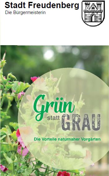 Aufklärungskampagne zum Thema Stein- und Schottergärten – Flyer der Stadtverwaltung